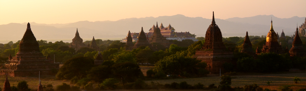 Overview the plains of Bagan